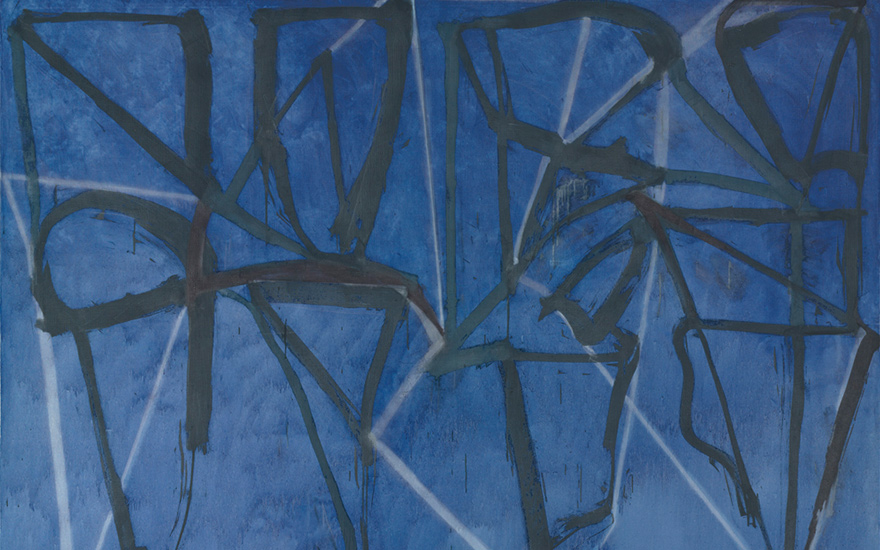 布莱斯·马登,《蓝色水平线》(1986-87) 图片:courtesy of Christie's/ © 2015 Brice Marden / Artists Rights Society (ARS), New York