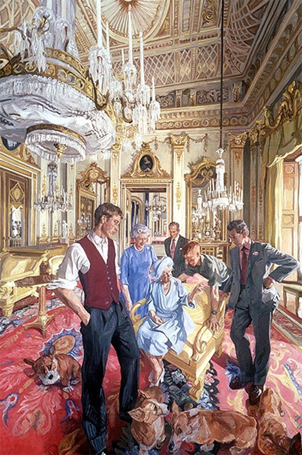 约翰·沃那科特,《皇室家族:新世纪的肖像》(The Royal Family: A Centenary Portrait,2000) 图片: © John Wonnacott/National Portrait Gallery, London.