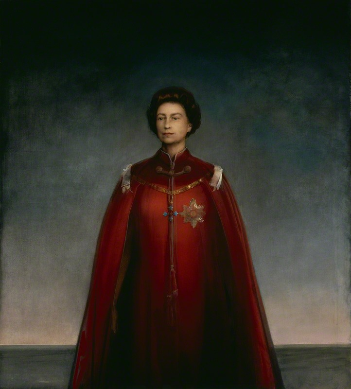 皮埃特罗·阿尼戈尼,《伊丽莎白女王二世》 (Queen Elizabeth II,1969) 图片: © National Portrait Gallery, London.