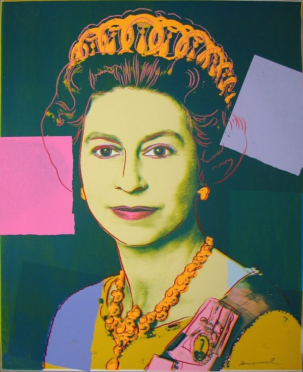安迪·沃霍尔《伊丽莎白女王》(独特)( Queen Elizabeth (unique) ,1985) 图片:. Courtesy of Adamar Fine Arts.