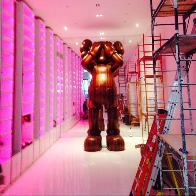 A sculpture by KAWS. Photo: courtesy the Dean Collection,via Instagram