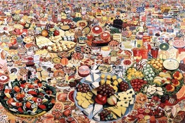 艾洛,《食景》(Foodscape,1964). 图片:courtesy the Moderna Museet, Stockholm  © 2014 Artists Rights Society(ARS), New York/ADAGP, Paris