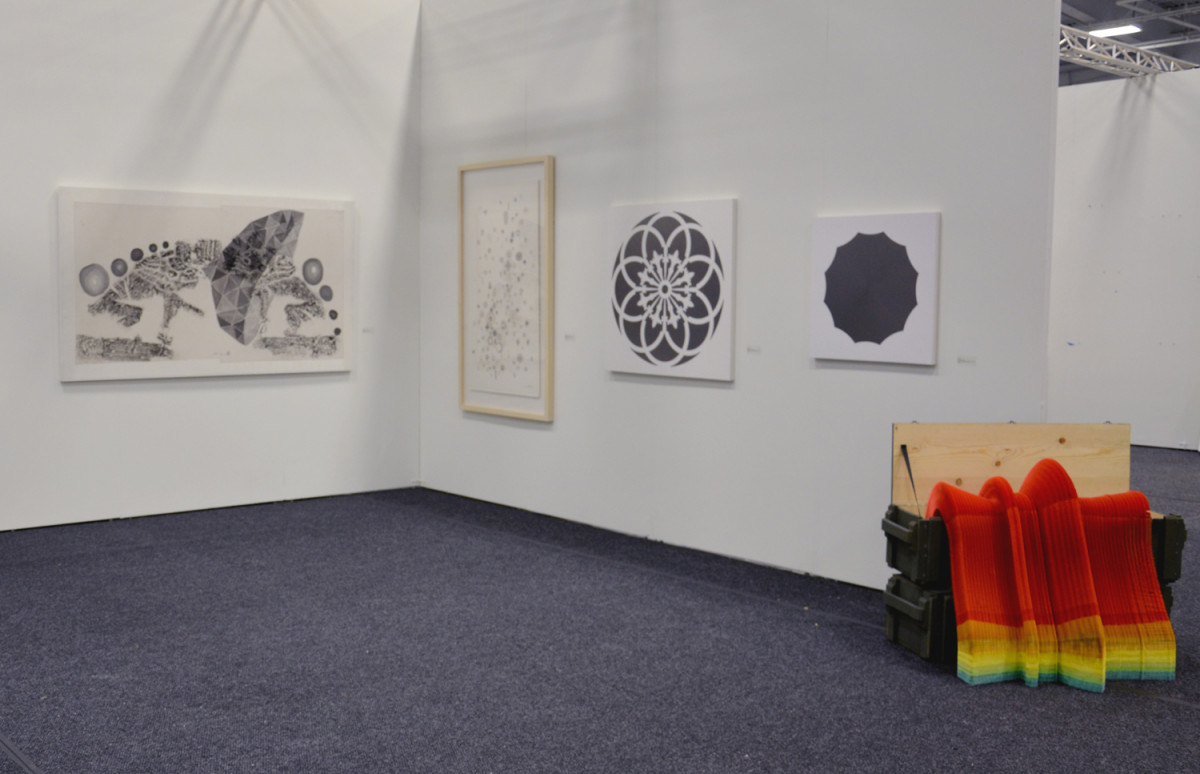 Booth installation view 2