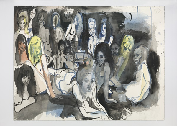 西西莉·布朗(Cecily Brown),《无题(女人国)》(Untitled (Ladyland)),2012。图片:Courtesy of the artist. Photo by Genevieve Hanson
