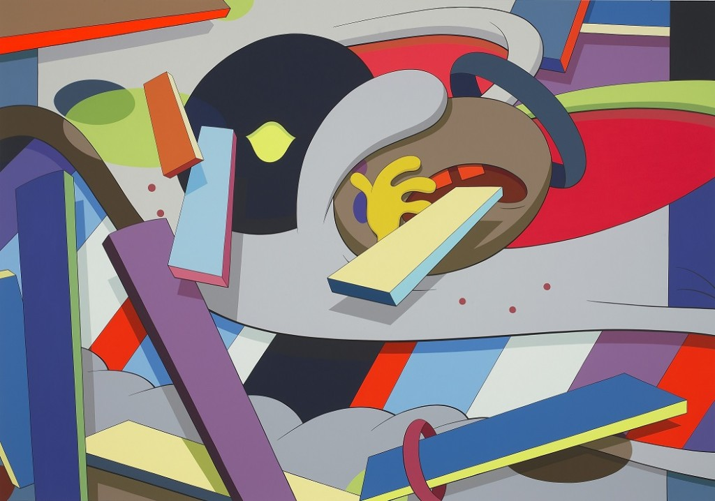 KAWS,WHERE THE END STARTS,2011,Acrylic on canvas,213.36 × 304.8 cm,Collection of the Modern Art Museum of Fort Worth,Gift of the Director's Council and Museum purchase,2012。图片:致谢余德耀美术馆