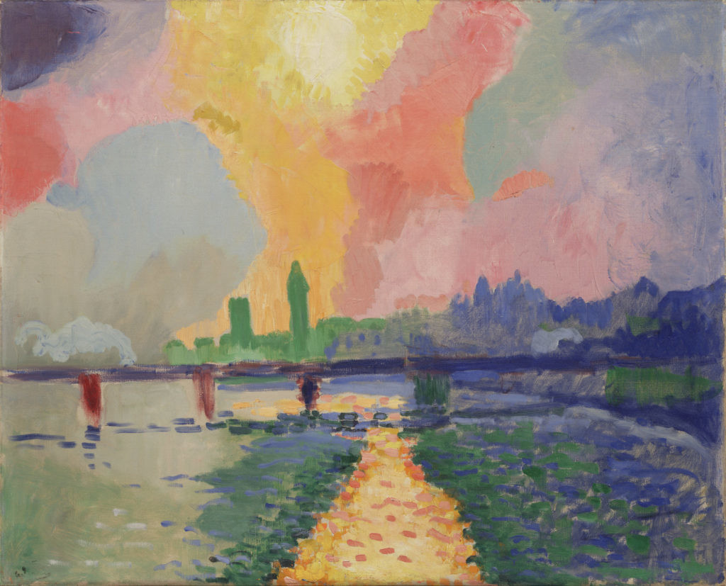 André Derain,《Charing Cross Bridge》(1905–06)。图片:Courtesy of the Museum of Modern Art. Fractional gift of Mr. and Mrs. David Rockefeller. ©2016 Artists Rights Society (ARS), New York / ADAGP, Paris. Photo: Paige Knight