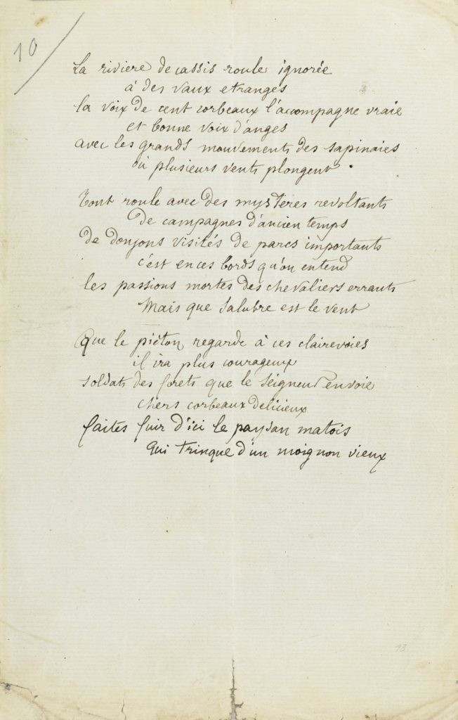 Arthur Rimbaud,《The River of Cassis》(1872)。图片:Courtesy Sotheby's Paris
