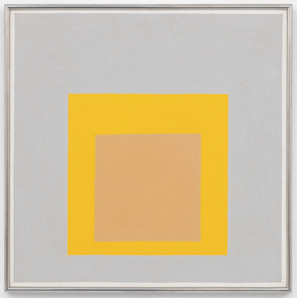 Josef Albers《Study for Homage to the Square: Evensong (1959)》。图片: courtesy David Zwirner