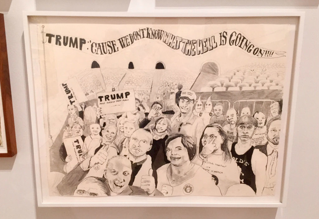 Celeste Dupuy-Spencer,《Trump Rally(And Some of Them I Assume Are Good People)》(2016)。图片:Ben Davis