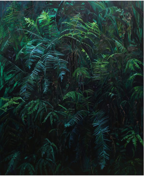Claire Sherman《 Ferns 》(2017)。图片:致谢Kavi Gupta画廊