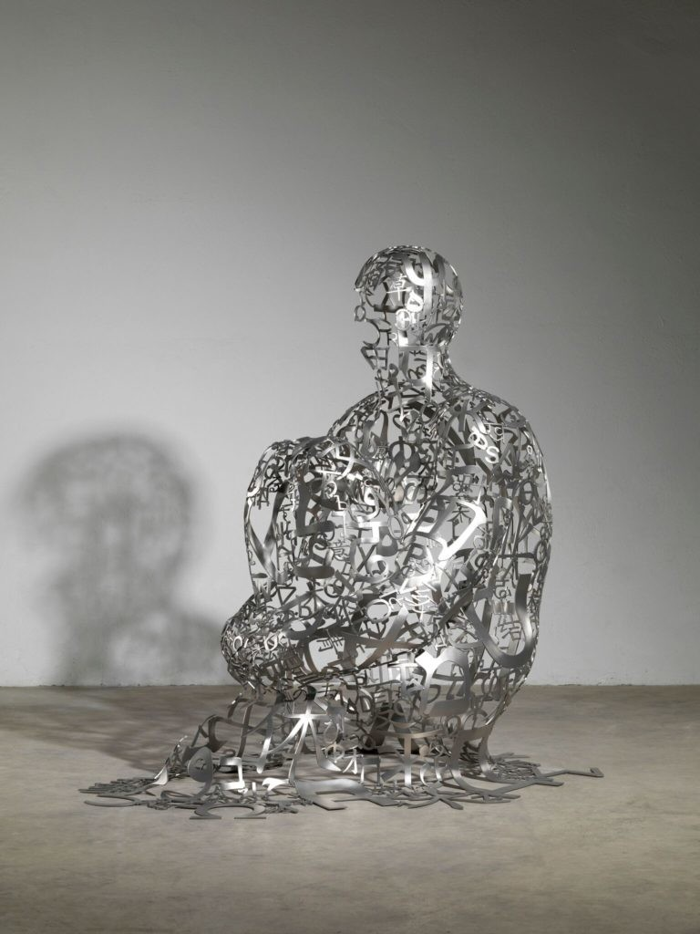 Jaume Plensa 《Endless VII (2015)》。 图片: Courtesy Galerie Lelong, New York and Paris
