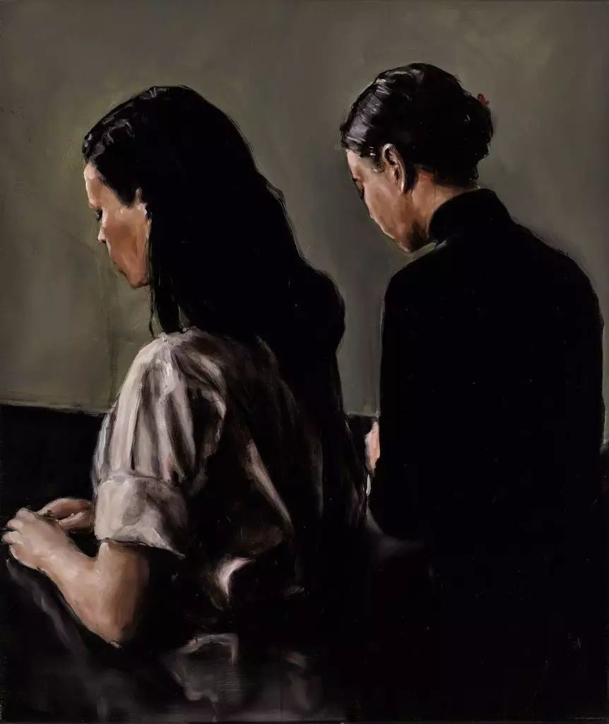 Michaël Borremans, 《Two》, 2004。图片:伦敦苏富比