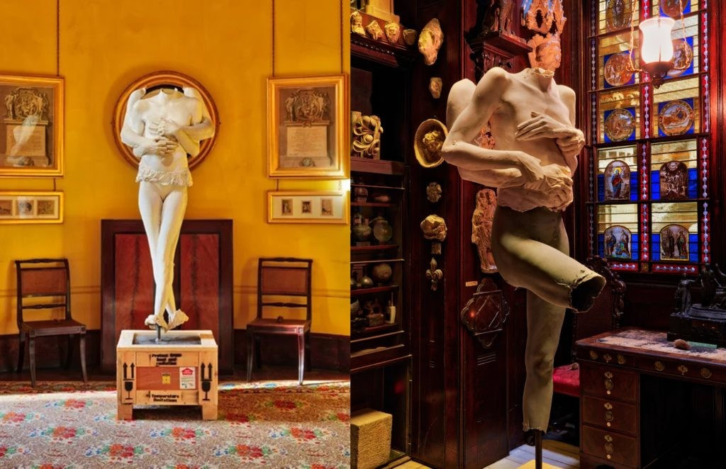 Sir John Soane's博物馆中展出的马克· 奎恩(Marc Quinn),《关于爱和呼吸的一切,以及关于爱与热的一切》(All About Love,Breathe, and All About Love,Hot),2015–2016。图片:© Courtesy of Marc Quinn Studio