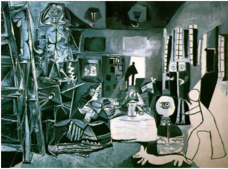 巴勃罗·毕加索,《宫娥图》(Las Meninas,after Velázquez),1957。图片:Museu Picasso, Barcelona,Gift ofthe artist,1968;© 2012 Estate of Pablo Picasso/Artists Rights Society(ARS),New York;Gassull Fotografia