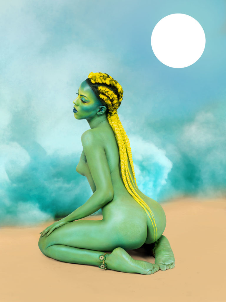 Juliana Huxtable, 《Untitled in the Rage (Nibiru Cataclysm)》,2015。图片:Courtesy of the Solomon R. Guggenheim Museum,New York;©Juliana Huxtable