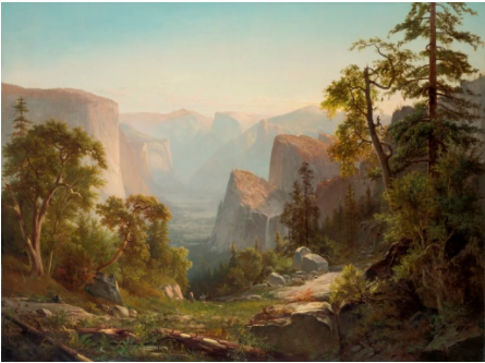 Thomas Hill,《View of Yosemite Valley 》,1865。图片:Courtesy of the New-York Historical Society.