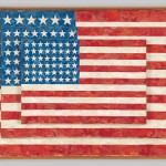 贾斯培·琼斯,《三面旗帜》(Three Flags ),1958。图片: © Jasper Johns / Licensed by VAGA, New York, NY