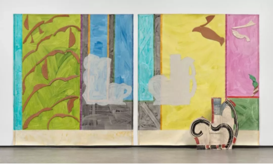 贝蒂·伍德曼(Betty Woodman), 《Paola's Room(diptych)》, 237.5x440.1x29.8cm,2011