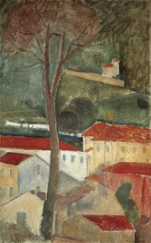 莫迪利亚尼,《Cagnes Landscape》 ,1919。图片:Private Collection