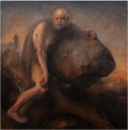 Odd Nerdrum,《西西弗斯》(Sisyphus)。图片:Courtesy of the artist