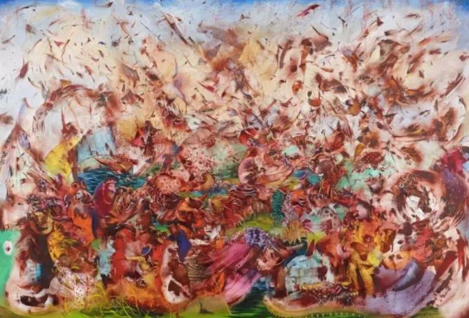 Ali Banisadr,《Contact》, 2013。图片:Courtesy of the artist
