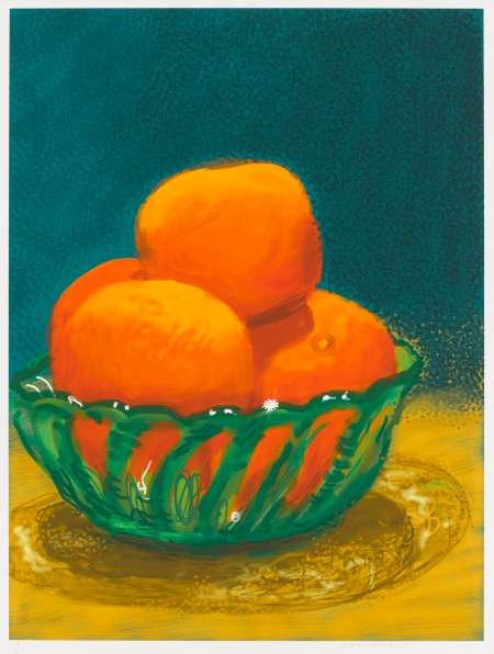 大卫·霍克尼,《Oranges》, 2011。图片:© David Hockney;Credit:Richard Schmidt,courtesy of Pace