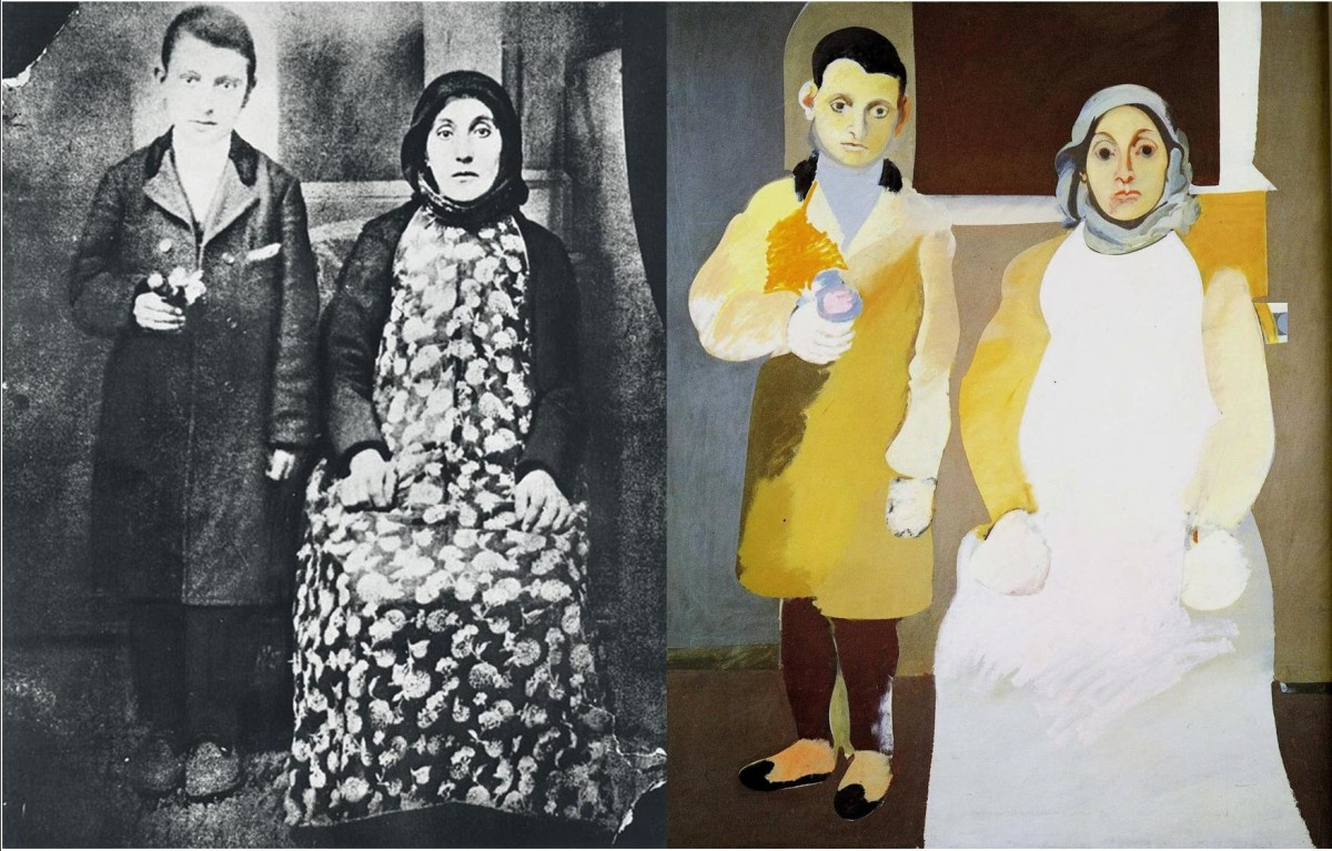 阿希尔·戈尔基,《艺术家和他的母亲》(Arshile Gorky: Artistand His Mother),1926-36。图片:© Estate of Arshile Gorky, courtesy ADAGP, Paris and DACS, London 2010