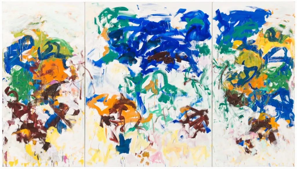 琼·米切尔(Joan Mitchell),《Bracket》(1989)。图片:Courtesy of the San Francisco Museum of Modern Art,© Estate of Joan Mitchell