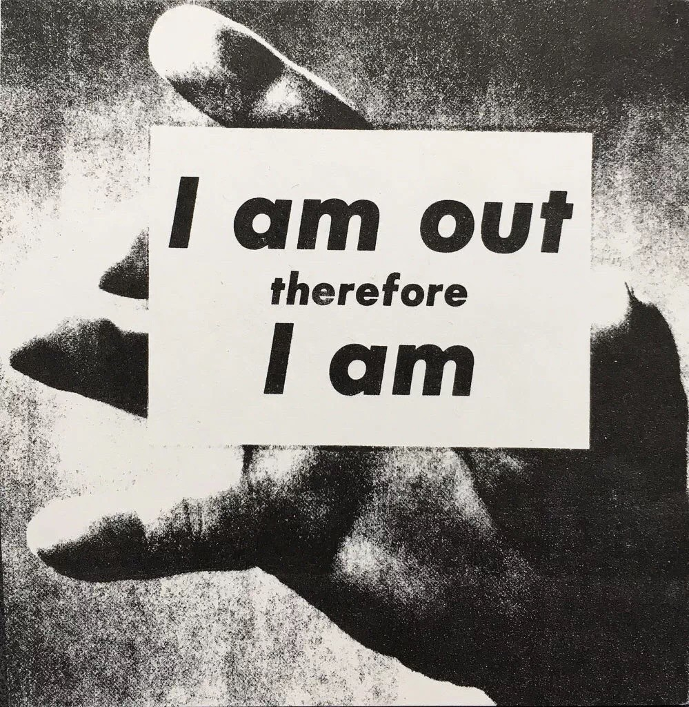 Adam Rolston,《I Am Out Therefore I Am》(1989)。图片:©the artist