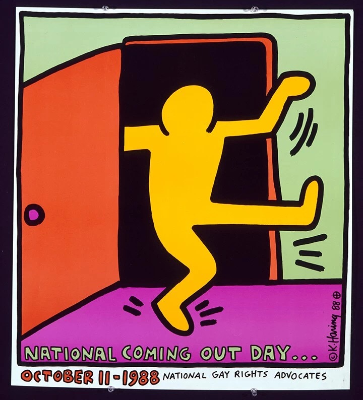 Keith Haring,《National Coming Out Day》(1988)。图片:©Keith Haring Foundation