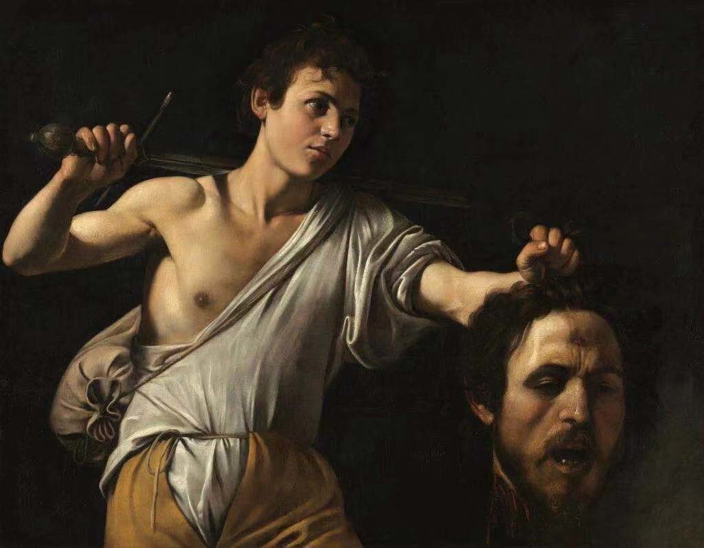 卡拉瓦乔(Caravaggio),《David With the Head of Goliath》。图片:由©KHM-Museumsverband提供