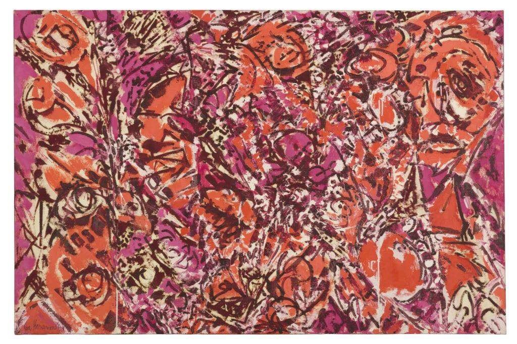 李·克拉斯纳(Lee Krasner),《Icarus》(1964)。汤姆森家族收藏(Thomson Family Collection),纽约。图片:© The Pollock-Krasner Foundation, courtesy Kasmin Gallery, New York提供,由Diego Flores拍摄