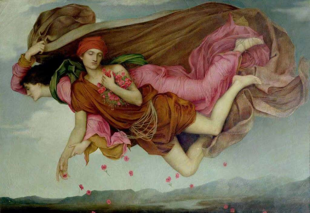 伊芙琳·德·摩根(Evelyn de Morgan),《Night and Sleep》(1878)。德·摩根收藏(de Morgan Collection)。图片:De Morgan Foundation提供