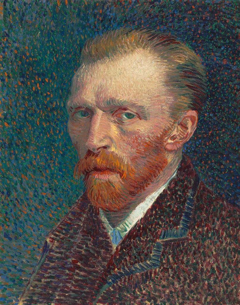 文森特·梵高(Vincent van Gogh),《Self-Portrait》(1887)。图片:由©The Art Institute of Chicago, Joseph Winterbotham Collection提供