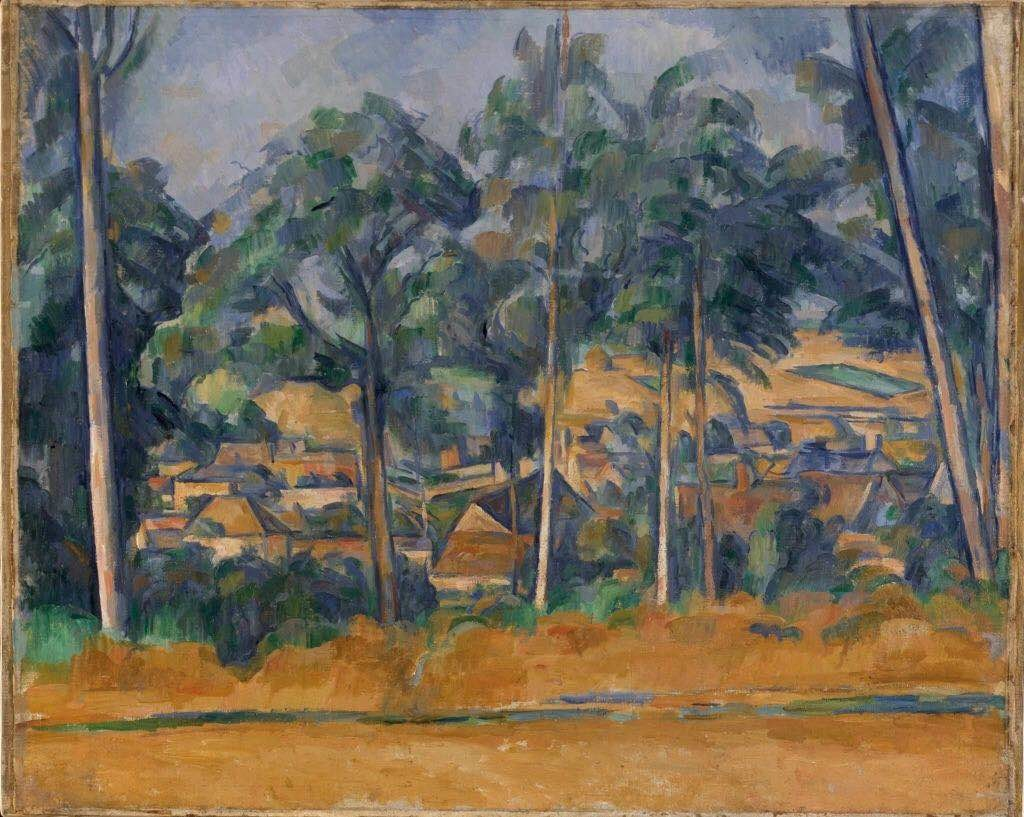 保罗·塞尚(Paul Cezanne), 《Village through the Trees》,(1898)。图片:由©Kunsthalle Bremen提供